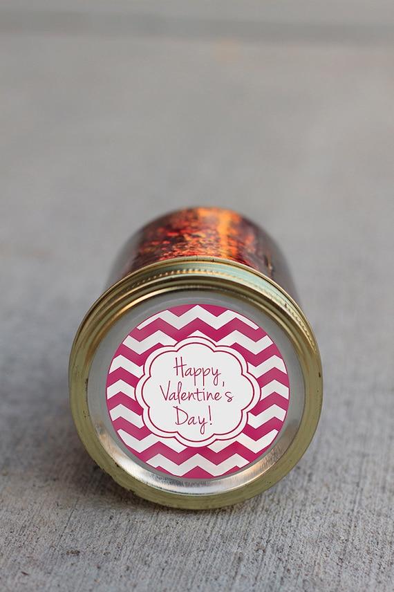 Printable Valentine's Day mason jar label instant