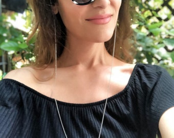 Thin Sunglasses Chain, Glasses Chain, Sunglasses Chain Necklace, Laces for Sunglasses, Sunglass Holder, Gift for Her (CHRISTI-LACES)