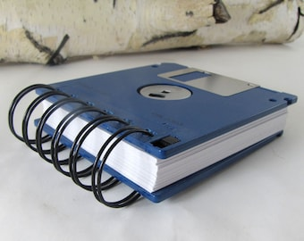 Floppy Disk Notebook JUMBO Brilliant Blue Computer Disk Recycled Geek Gear Blank Mini 125 sheets
