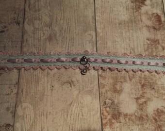 Mint Purple Pink Lace Kitten Play Collar Choker