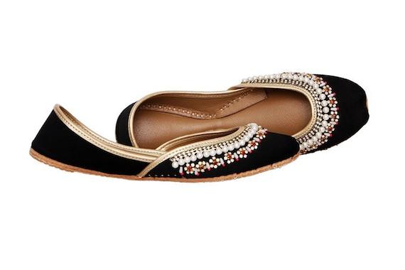 a7c71129c426 Shoes Juttis Flat Juti Indian Ethnic Kundan Ballet Brooch Embellished Women  Bridal Handmade Shoes Khussa Shoes