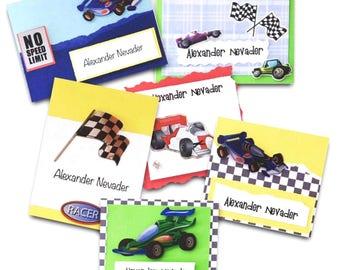 Race cars presentation cards