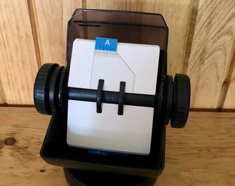 ROLODEX UNUSED  Vintage Office 1980's Full Size With Cards In Excellent Like New Condition