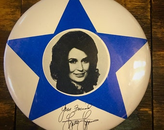 Vintage Loretta Lynn Button