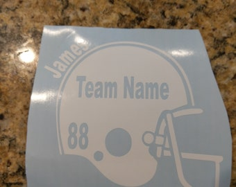 Football team decal