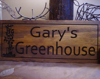 Greenhouse Sign, wood carved Sign, Personalized Wood Sign, Home garden, Veggie, Vegetables, Homestead Signs, Mothers Day Gift, Benchmark