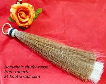 Horsehair tassel, shoo fly tassel, shu fly tassel, girth tassel, horse hair tassel, thick, double layered, Shu Fly, BEAUTIFUL, Thick, Bold