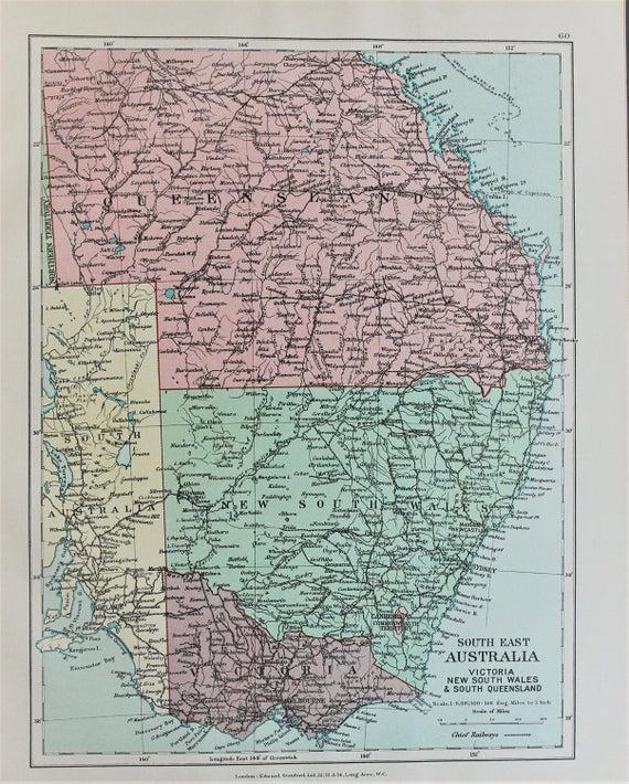 Australia Queensland Victoria Nueva Gales del sur antiguo
