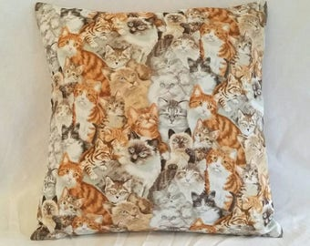 Cats Throw Pillow Cover /Crazy Cat Lady Gifts / Throw Cushion Covers / Scatter Cushion Covers / Throw Pillows / Mothers Day Gift / Pillow