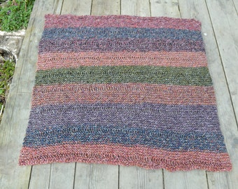 Hand Knitted Rug/Blanket