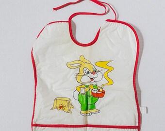 Vintage Plastic and Terrycloth Infant Bib