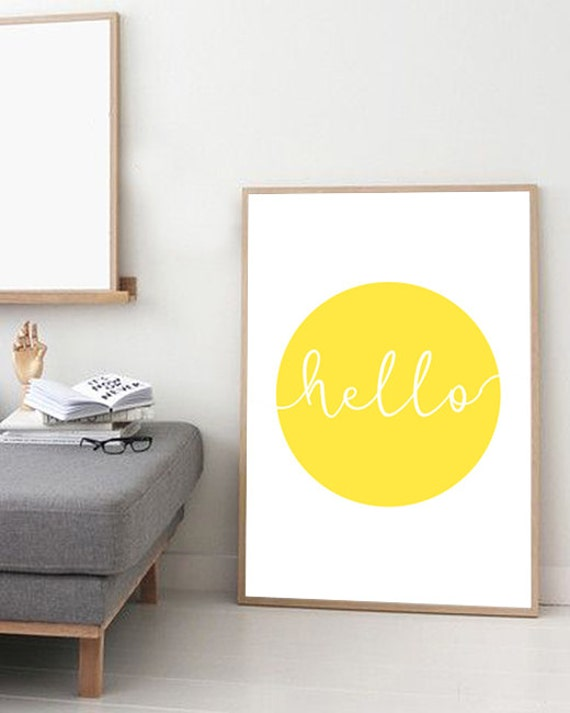 Giclee Art print Poster Minimalist print Yellow Circle Sun
