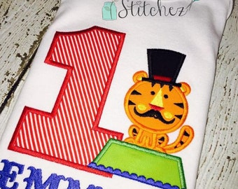 Circus Tiger Applique Design ~ *No Number or name included ~ Instant Download
