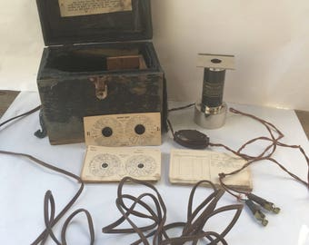 Iriscope Model D Vintage Medical Device, patented 1935 by Dr. J.L. Rogers