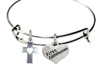First Communion Bracelet- Girls First Communion Jewelry Accessory- First Communion Gift- Gift Communion Gift- Christian Gifts- Gift For Girl