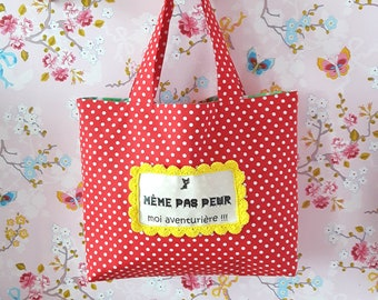 Red bag with white polka dots not even, gift idea