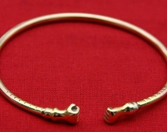 Brass Bangle Fist Style Bracelet