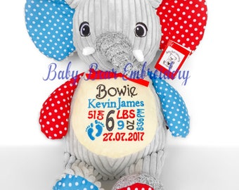 personalised teddy bear, elephant