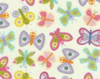 40% OFF SALE!  Flutter Butterflies Cream
