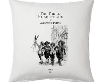 The Three Musketeers Pillow Cover, Book pillow cover.