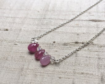 Ruby Ombre Necklace