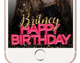 Snapchat Filter, Snapchat Filter Birthday, Snapchat Geofilter Birthday, Snapchat Birthday, Birthday Filter, Gold Snapchat Filter