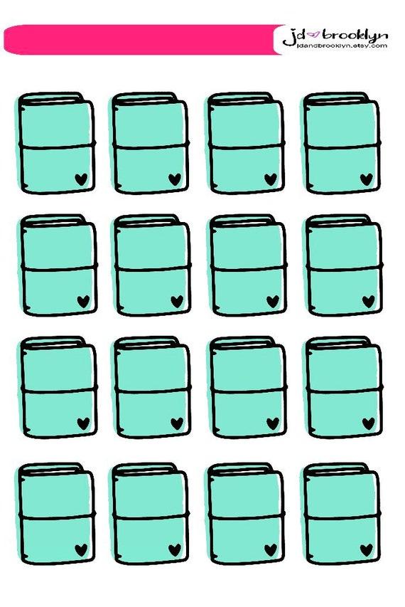 Travelers notebook icon sticker