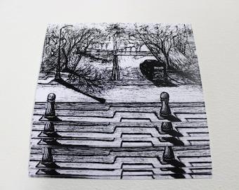 Deserted Streetscape (postcard)