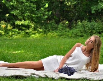 sleepwear, nachthemd, nachtkleid, linen sleepwear, linen nightgown, dress, natural linen nightgown, linen nightgown, linen lingerie , leinen