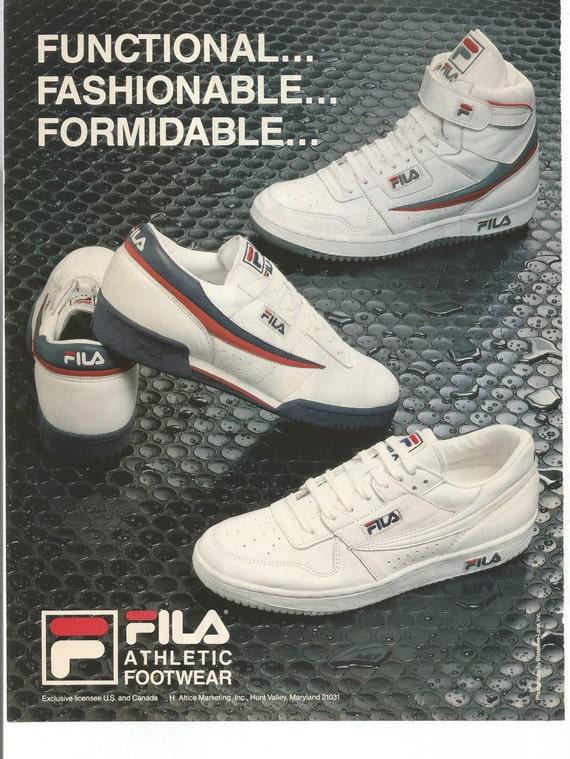 fila shoes advertisement history