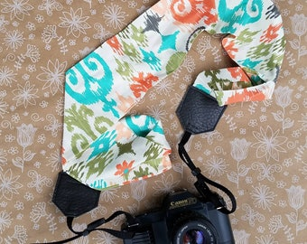 Aztec Cotton Fabric Camera Strap, Camera Strap, Camera Neck Strap, Photography Supplies, Camera Strap, Cross Body Camera Strap
