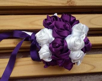 Purple Bridal Bouquet, Alternative Bouquet, Wedding Bouquet, Wedding Ceremony, Handhold Flowers Bouquet, Bridal Bouquet, Bridesmaids Bouquet