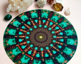 Mint Altar Cloth Mandala Healing