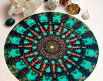 Mint Altar Cloth Mandala Healing