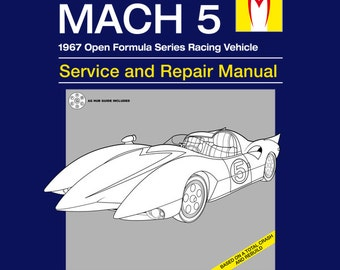 Mach 5 Service and Repair Manual  Men's Unisex T-Shirt - Anime Manual Parody Clothing
