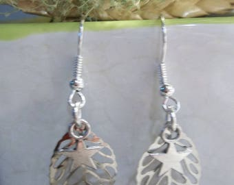 leaf design Silver Earring