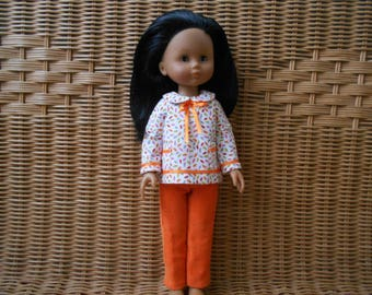 Outfit/clothing doll 32-33 cm compatible Little Darling sweethearts of Paola Reina and Corolle