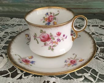 Gorgeous rare antique royal albert crown china duo pretty handpained china