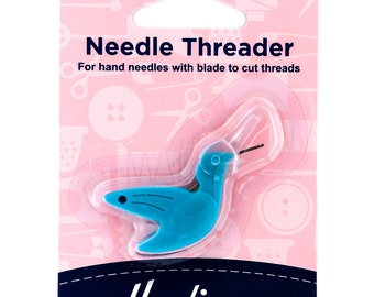 Hemline Hummingbird Needle Threader With Cutting Blade Hand Sewing Haberdashery