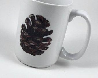 Pine Cone / Minnesota Mug - 15 oz. - Up North - Lake Life - Pine Trees - Evergreen - Woods - Outdoors - Fishing - Camping