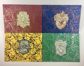 Hogwarts Four House Greeting Card Bundle