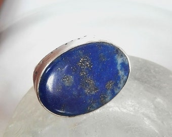 Lapis Lazuli Ring, Gemstone Ring, Lapis Jewelry, Lapis Ring, September Birthstone, September Gemstone, Natural Lapis Jewelry,Birthstone Ring
