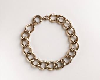 Curvaceous c1930 Curb Link Bracelet