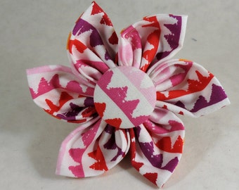 Dog Flower, Dog Bow Tie, Cat Flower, Cat Bow Tie -  Zipper Stripe