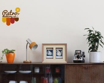 Double Polaroid personalised photo frame