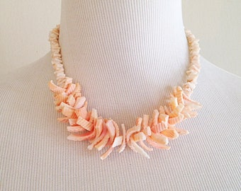 Tiki Tribal Shell Necklace Vintage 1990s