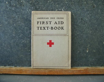 First Aid Book Text Book,  Paperback, red cross, 1933, 30s, High school text