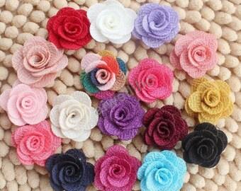 Rose Flowers, Fabric Flowers ,Wholesale Flowers, DIY Hair Accessories Supplies H100022