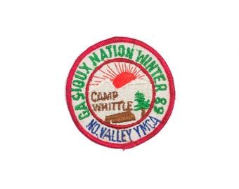 Camp Whittle Red Vintage Patch