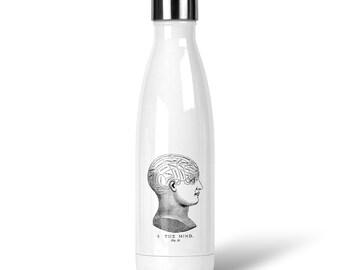 Phrenology Head Illustration Stainless Steel Drink Bottle (Ships from Australia)
